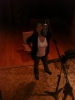 Leah warms up for her new album at RUSK Studios in Hollywood.