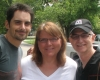 Brad Paisley with co-executive producers Cindy Lovell and Carl Jackson