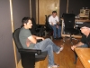 Brad Paisley, Bradley Walker, and Carl Jackson take five at Station West Studio