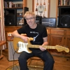 Robb with 1974 Strat at Moss Creek Studio
