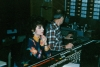 Carol Lee Cooper of the Grand Ole Opry's Carol Lee Singers works with engineer Ben Hall at the Home Place studios in Nashville while recording