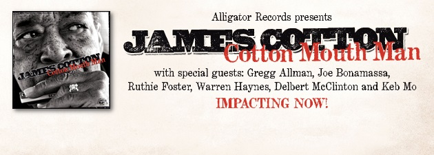 JAMES COTTON|Greatest living blues harmonica player-NY Daily News