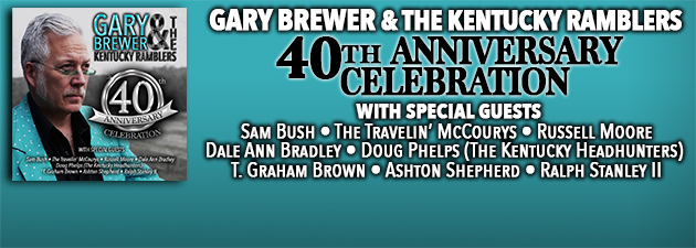 GARY BREWER|Bluegrass legend celebrates his 40th Anniversary